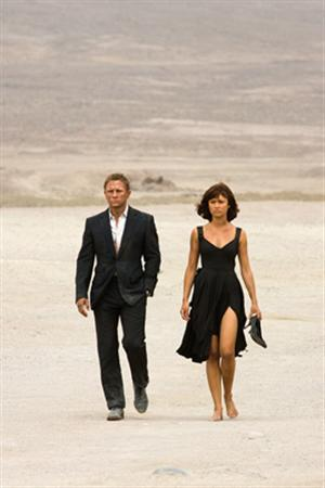 Daniel Craig as James Bond and Olga Kurylenko as Camille in a scene from ''Quantum of Solace'' in an image courtesy of MGM/Columbia Pictures. REUTERS/Handout