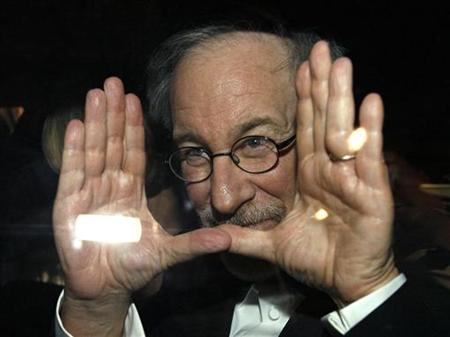 U.S. director Steven Spielberg departs after the world premiere screening of the film ''Indiana Jones and the Kingdom of the Crystal Skull'' at the 61st Cannes Film Festival May 18, 2008. Picture taken May 18, 2008. REUTERS/Jean-Paul Pelissier
