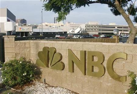 The main entrance to the NBC television network studios is pictured in Burbank, California, October 11, 2007. REUTERS/Fred Prouser