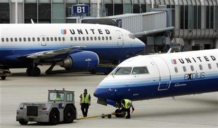 United Airlines planes are seen at O'Hare International airport in Chicago June 4, 2008. REUTERS/Jeff Haynes