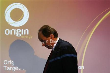 Origin Energy Ltd. Managing Director, Grant King, arrives for a news conference in central Sydney August 19, 2008. REUTERS/Daniel Munoz