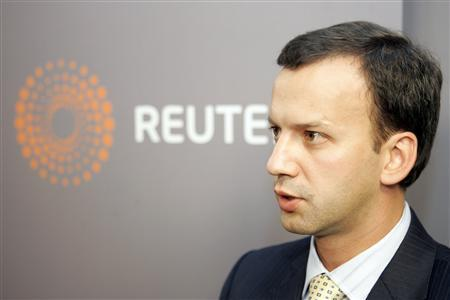 Top Kremlin economic aide Arkady Dvorkovich speaks during an interview with Reuters in Moscow September 9, 2008. REUTERS/Alexander Natruskin