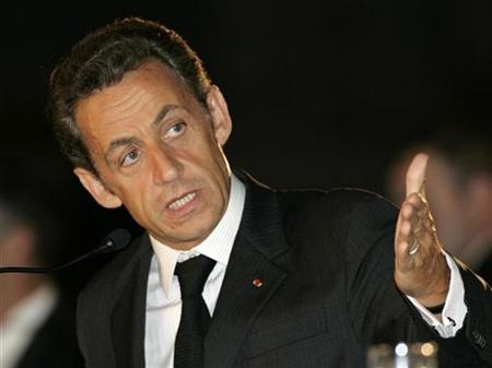 France's President Nicolas Sarkozy speaks during a news conference in Tbilisi September 8, 2008. REUTERS/David Mdzinarishvili