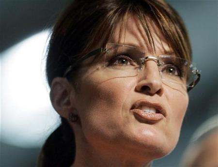 US Republican vice presidential candidate Alaska Governor Sarah Palin, speaks during a rally in Lancaster, Pennsylvania, September 9, 2008. REUTERS/Tim Shaffer