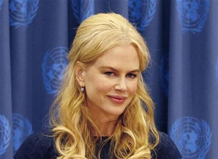 Actress Nicole Kidman speaks during a news conference at the United Nations Headquarters in New York April 22, 2008. REUTERS/Brendan McDermid