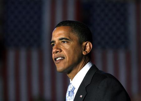 Democratic presidential nominee Senator Barack Obama speaks to supports during a campaign stop in Dayton, Ohio, September 9, 2008. REUTERS/Matt Sullivan
