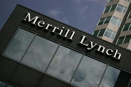 A Merrill Lynch sign is seen in Toronto, April 29, 2008. REUTERS/Mark Blinch