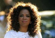 <p>Television presenter Oprah Winfrey arrives for the birthday dinner party of former president of South Africa Nelson Mandela at Hyde Park in London June 25, 2008. REUTERS/Dylan Martinez</p>