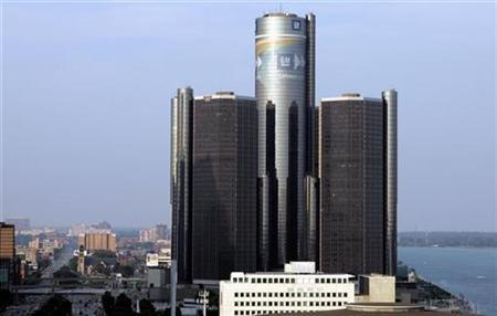 General Motors Corp. headquarters is seen in Detroit July 29, 2008. REUTERS/Rebecca Cook