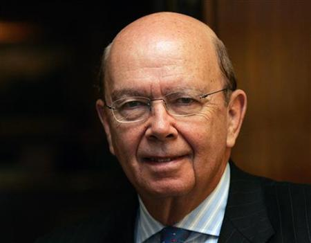 Wilbur L. Ross Jr., Chairman and Chief Executive Officer of WL Ross & Co. LLC., a billionaire financier known for his investments in the U.S. steel, coal and auto parts industries, speaks with Reuters during a visit to Dearborn, Michigan January 11, 2006. REUTERS/Rebecca Cook
