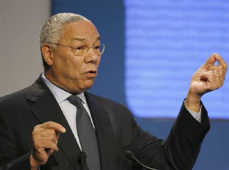 Colin Powell, former Secretary of State of the United States, speaks at the World Knowledge Forum in Seoul in this October 17, 2007 file photo. REUTERS/Lee Jae-Won