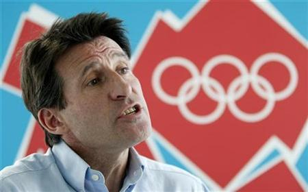 Sebastian Coe, head of the London 2012 Games, speaks to Reuters during an interview at the 2012 headquarters in Canary Wharf, London August 1, 2007. REUTERS/Stephen Hird