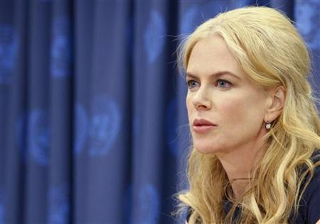 Nicole Kidman speaks during a news conference at the United Nations Headquarters in New York April 22, 2008. . REUTERS/Brendan McDermid