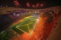 <p>Un momento della cerimonia di chiusura delle Paralimpiadi a Pechino. REUTERS/Jason Lee</p>