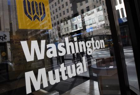 A Washington Mutual (WaMu) bank branch is seen in New York City, September 17, 2008. REUTERS/Mike Segar