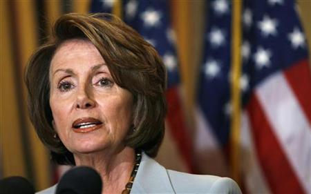 Speaker of the House Nancy Pelosi talks about Massachusetts Senator Edward Kennedy in the Capitol in Washington in this May 20, 2008 file photo. REUTERS/Kevin Lamarque