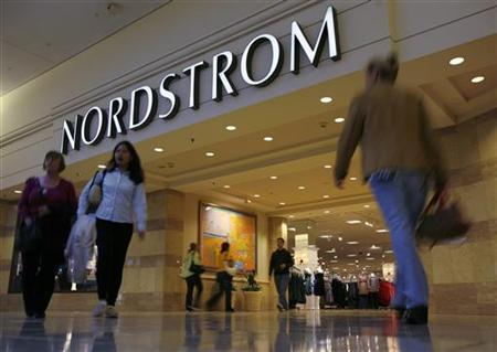 Shoppers make their way past Nordstrom at Woodfield Mall in Schaumburg, Illinois in this October 22, 2007 file photo. REUTERS/John Gress
