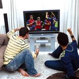 <p>Two men watch television in a handout photo. REUTERS/BSkyB/Handout</p>