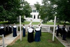 <p>Shaker Village at Pleasant Hill preserves the utopian ideals of this celibate community of the 1800s. It is described as America's largest restored Shaker community. REUTERS/Kentucky Department of Travel/Handout</p>