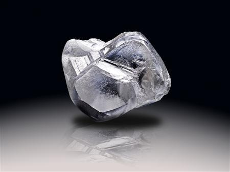 A white diamond weighing nearly 500 carats is seen in this undated handout photograph released in London on September 21, 2008. REUTERS/Pelham/Handout