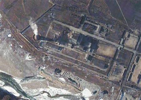 Satellite image from DigitalGlobe taken on January 5, 2006 shows Yongbyon nuclear reactor in North Korea. REUTERS/DigitalGlobe