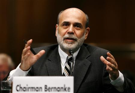 Chairman of the Federal Reserve Ben Bernanke testifies before the Joint Economic Committee about the credit market turmoil and the government economic bailout on Capitol Hill in Washington September 24, 2008. REUTERS/Kevin Lamarque