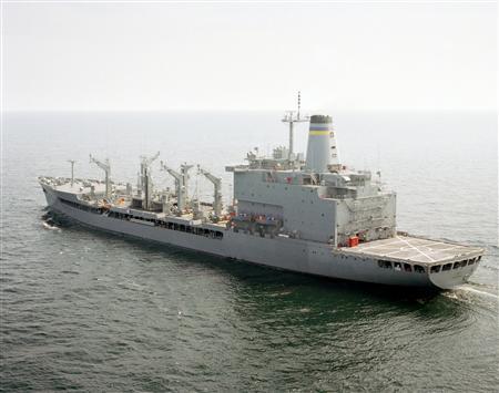 The fleet oiler USS John Lenthall is seen in a handout photo. REUTERS/DefenseImagery.mil/Handout