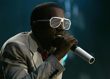 Kanye West performs during the Concert for Diana at Wembley Stadium in London July 1, 2007. REUTERS/Luke MacGregor