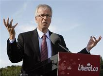 <p>Liberal Leader Stephane Dion speaks at the Loyola Arrupe Centre for Seniors during a campaign stop in Toronto, September 26, 2008. Canadians will head to the polls in a federal election October 14. REUTERS/ Mike Cassese</p>