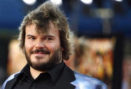 Cast member Jack Black attends the premiere of ''Tropic Thunder'' at the Mann's Village theatre in Westwood, California August 11, 2008. The movie opens in the U.S. on August 13. REUTERS/Mario Anzuoni