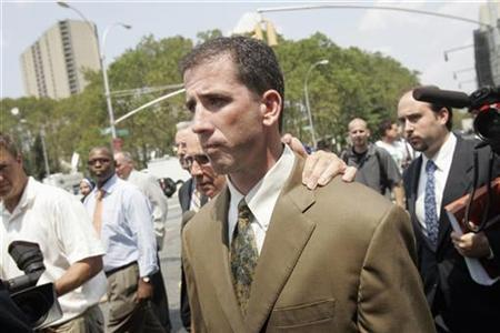 Former NBA referee Tim Donaghy leaves Brooklyn federal court after his sentencing in New York July 29, 2008. REUTERS/Shannon Stapleton