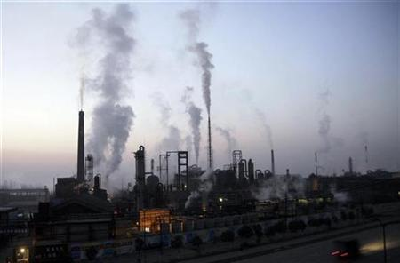 A general view of a chemical factory during dawn in Xiangfan, Hubei province in this November 28, 2007 file photo. REUTERS/Stringer