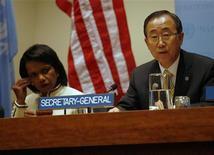 """<p>Члены """"Ближневосточного квартета"""" встречаются на 63-ей Генеральной Ассамблее ООН, 26 сентября 2008 года США и Северная Корея близки к договоренности по ядерной программе КНДР, сообщили мировые СМИ. REUTERS/Eric Thayer (UNITED STATES)</p>"""