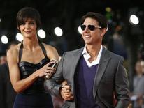 <p>Tom Cruise accanto alla moglie Katie Holmes. REUTERS/Mario Anzuoni</p>