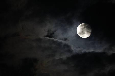Storm clouds are seen covering the full moon over Malta in this September 15, 2008 file photo. REUTERS/Darrin Zammit Lupi/Files