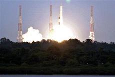 <p>Il lancio della missione indiana sulla Luna. REUTERS/Babu</p>