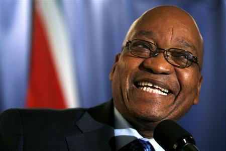 African National Congress President Jacob Zuma speaks about South Africa at the National Press Club in Washington October 21, 2008. REUTERS/Kevin Lamarque