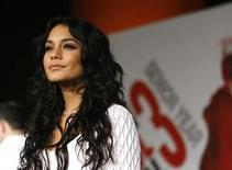 "<p>Cast member Vanessa Hudgens poses at the premiere of the movie ""High School Musical 3: Senior Year"" at Galen Center in Los Angeles October 16, 2008. The movie opens in the U.S. on October 24. REUTERS/Mario Anzuoni</p>"