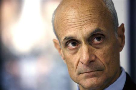Homeland Security Secretary Michael Chertoff listens to a question during an interview with Reuters in Washington October 23, 2008. REUTERS/Kevin Lamarque
