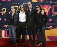 <p>Группа Metallica на церемонии MTV Latin America Awards в Гвадалахаре 16 октября 2008 года. REUTERS/Hector Guerreo</p>