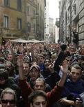 <p>Studenti protestano a Roma. REUTERS/Max Rossi</p>