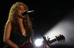 "<p>Colombian pop singer Shakira performs during the ""Rock in Rio"" music festival in Arganda del Rey, near Madrid July 4, 2008. REUTERS/Juan Medina</p>"