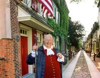 <p>Philadelphia's beloved Benjamin Franklin (played here by Ralph Archbold) in an undated photo. REUTERS/GPTMC/Handout</p>