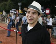 """<p>Singer David Archuleta, contestant of the 2008 American Idol reality series poses at the world premiere of the Disney-Pixar animated film """"Wall-E""""in Los Angeles, California June 21, 2008. REUTERS/Fred Prouser</p>"""