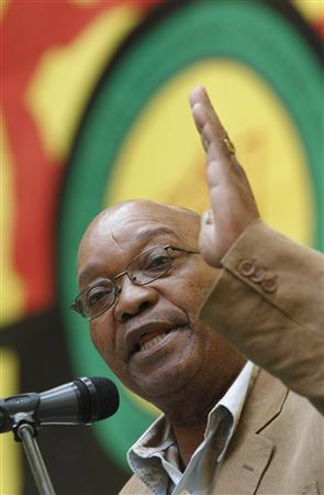 Jacob Zuma, president of the ruling African National Congress (ANC), addresses a rally in Cape Town, November 7, 2008. REUTERS/Mike Hutchings
