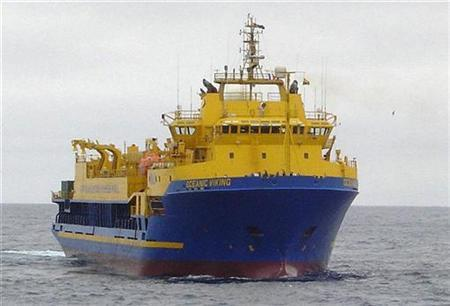 The Australian Customs icebreaker ''Oceanic Viking'' is seen in this undated handout photograph made available on December 19, 2007. REUTERS/Australian Customs/Handout