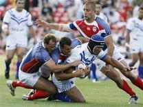 <p>Foto de arquivo de um jogo de rúgbi entre Samoa e França, na Sydney, no dia 9 de novembro. REUTERS/Daniel Munoz</p>