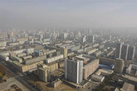 Central Pyongyang seen in this aerial photo November 13, 2008. REUTERS/Lee Jae-Won/Files