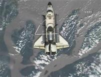 <p>Spazio,astronauti Endeavour si preparano a ritorno previsto oggi. REUTERS/NASA TV</p>
