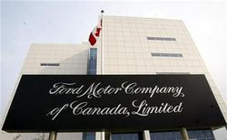 <p>Ford Motor Company of Canada head office, pictured, is situated beside it's Oakville Assembly Plant in Oakville, a Toronto suburb, February 15, 2006. REUTERS/J.P. Moczulski</p>